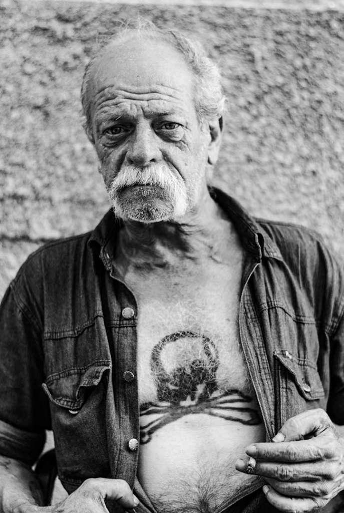 retrato vagabundo tatuaje carcelario