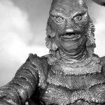 "Fotograma de ""creature from the black lagoon"" cine de terror"